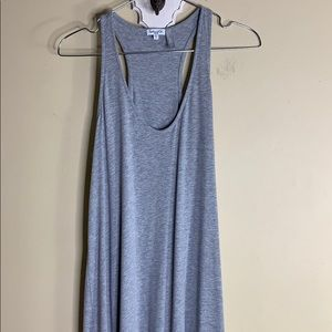 Splendid gray racer back maxi T-shirt dress